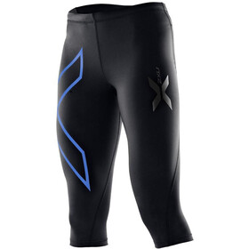 2XU W's Compression 3/4 Tights Black/Blue logo